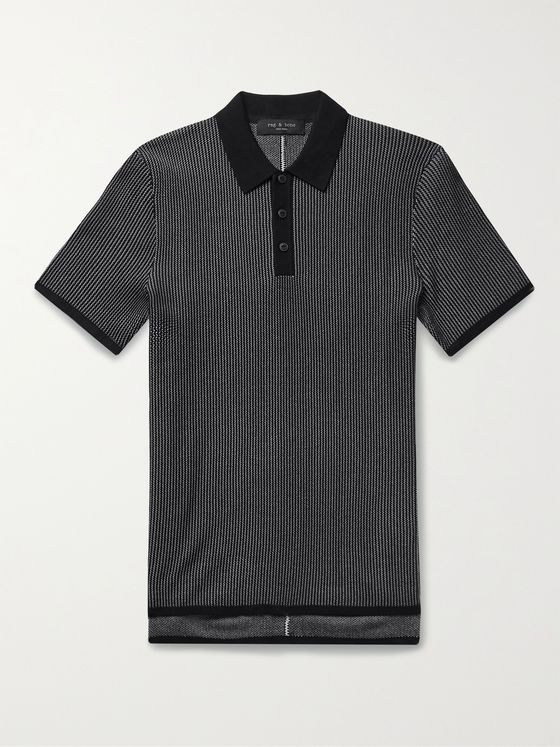 RAG & BONE Harvey Cotton-Blend Polo Shirt