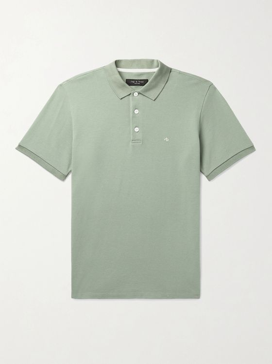 RAG & BONE Cotton-Blend Piqué Polo Shirt