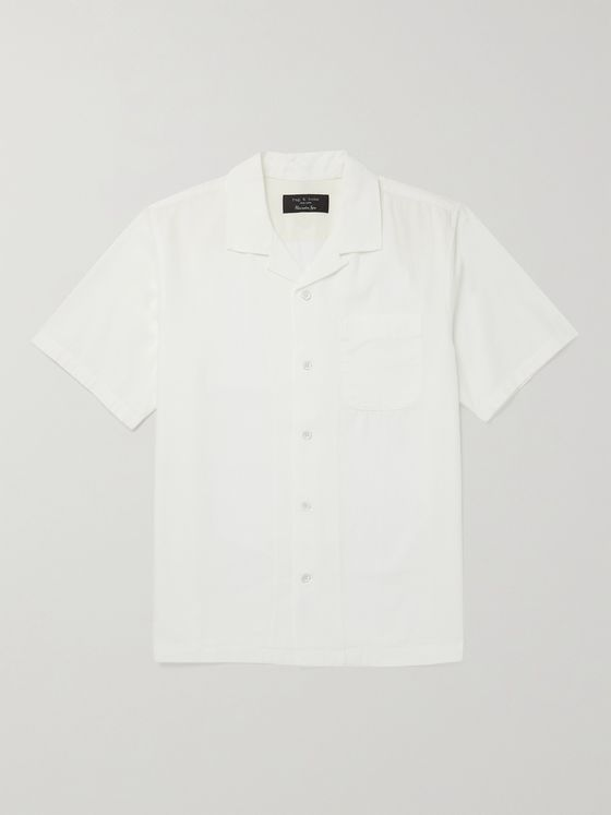 RAG & BONE Avery Camp-Collar Cotton-Chambray Shirt