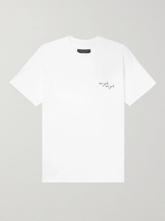 RAG & BONE Embroidered Cotton-Jersey T-Shirt