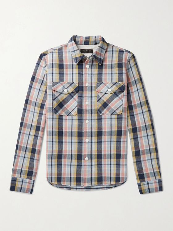 RAG & BONE Jack Checked Cotton-Twill Shirt Jacket
