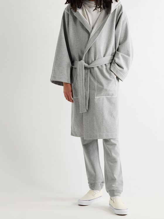 REIGNING CHAMP + Everlast Loopback Cotton-Blend Jersey Hooded Robe