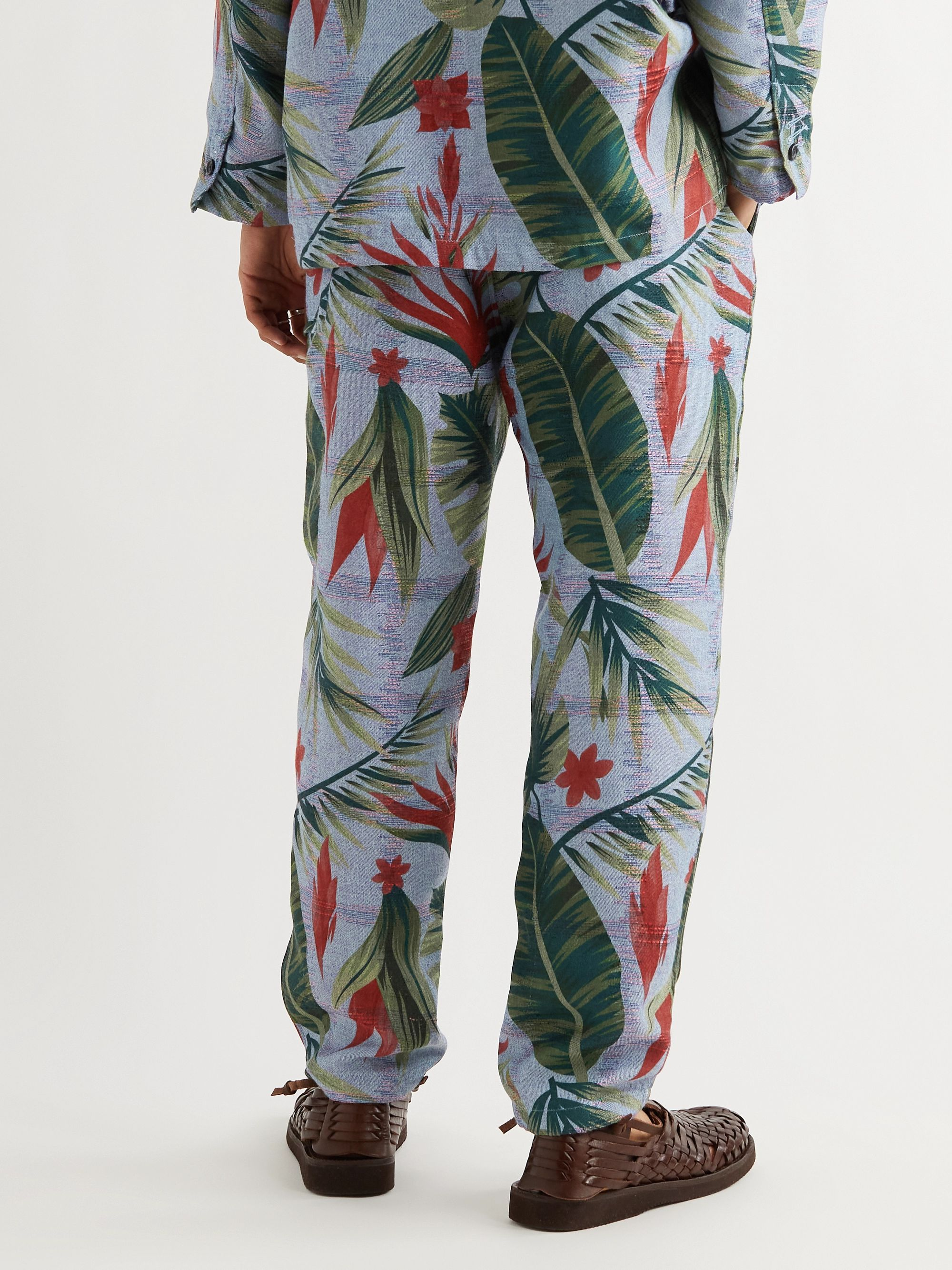 ENGINEERED GARMENTS Floral-Jacquard Twill Trousers
