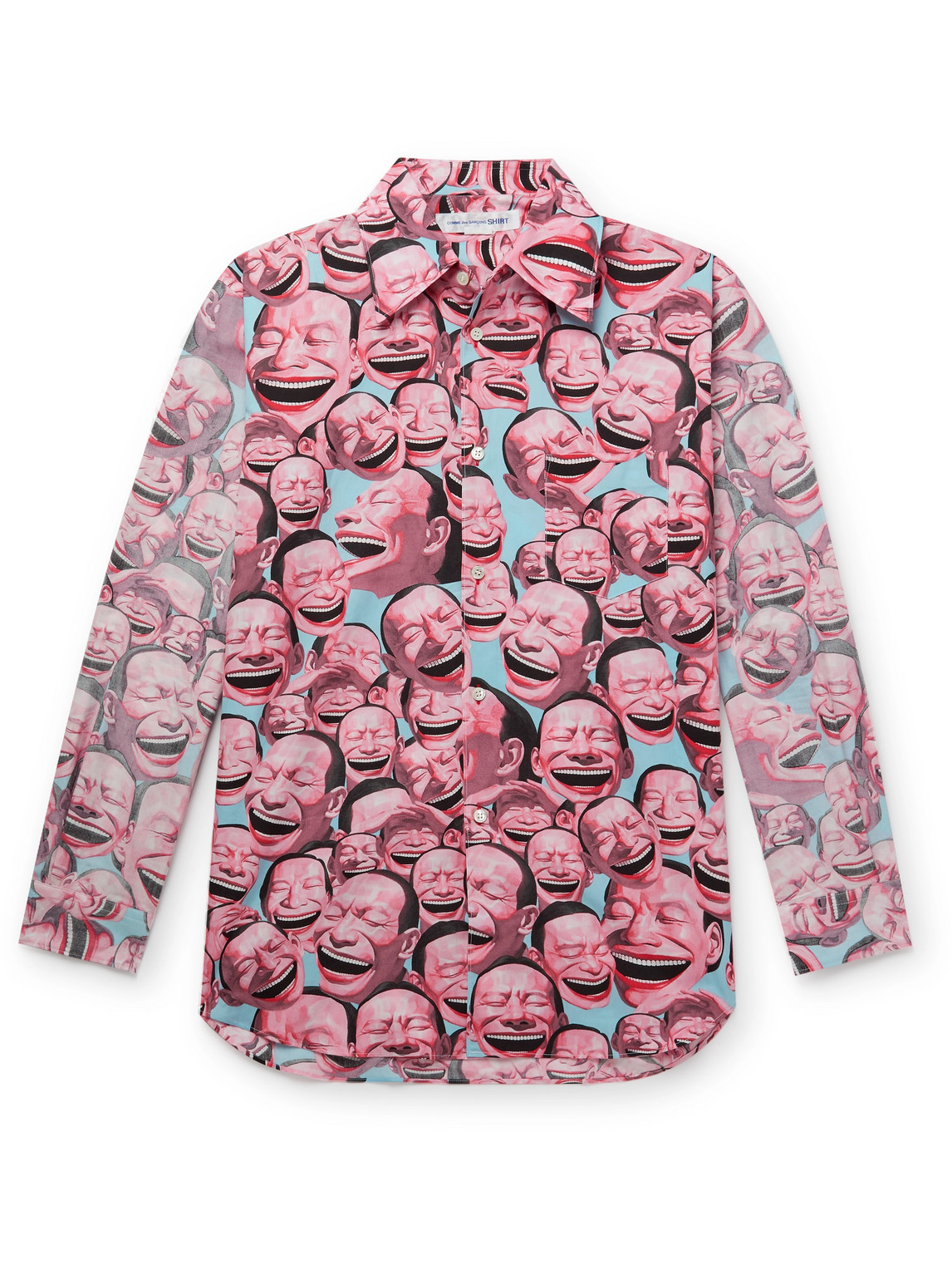 Comme Des Garçons Shirt Clothing YUE MINJUN PRINTED COTTON-POPLIN SHIRT