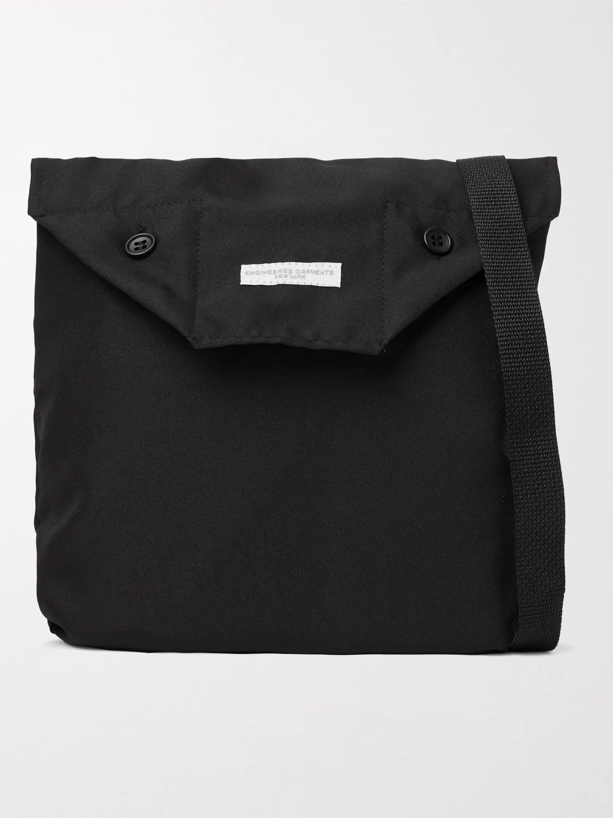 ENGINEERED GARMENTS Logo-Appliquéd Twill Messenger Bag