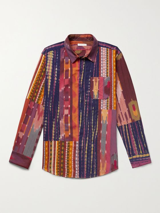 ENGINEERED GARMENTS Patchwork Ikat Printed Cotton Shirt