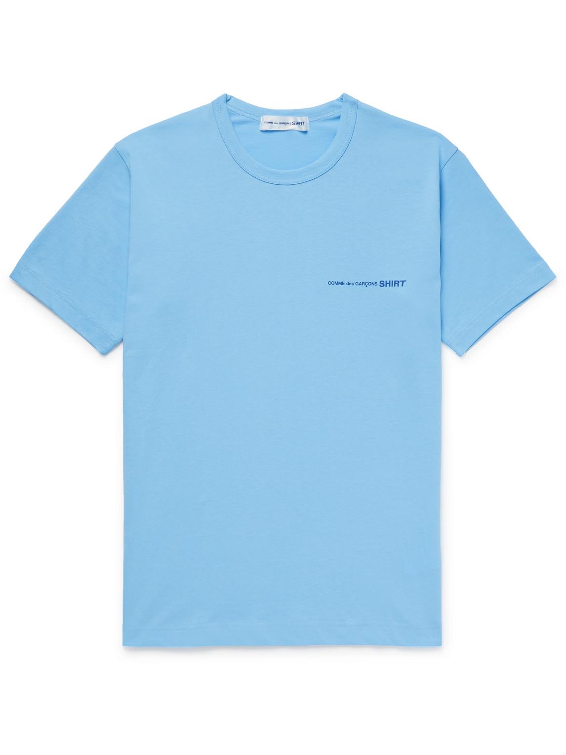 Comme Des Garçons Shirt Cottons LOGO-PRINT MÉLANGE COTTON-JERSEY T-SHIRT