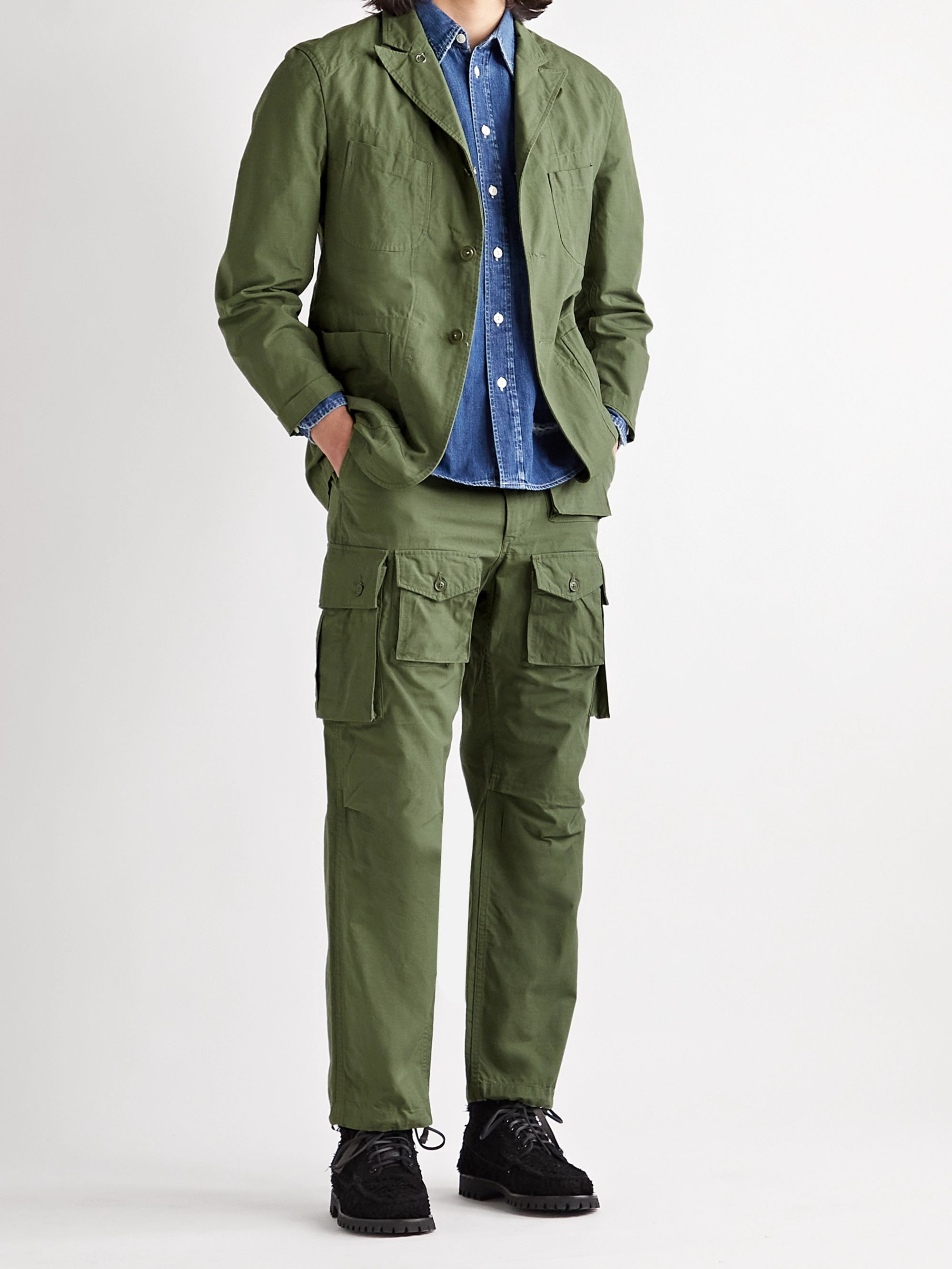 ENGINEERED GARMENTS FA Cotton-Ripstop Cargo Trousers