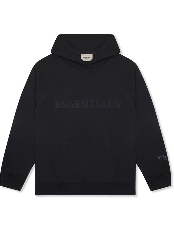 Fear of God Essentials Logo-Print Cotton-Jersey Hoodie