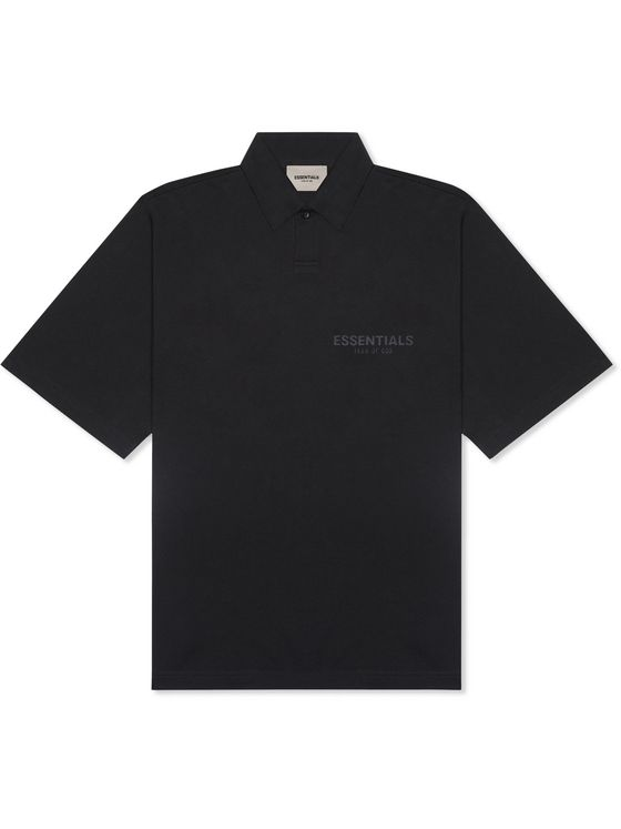 Fear of God Essentials Logo-Print Cotton-Jersey Polo Shirt