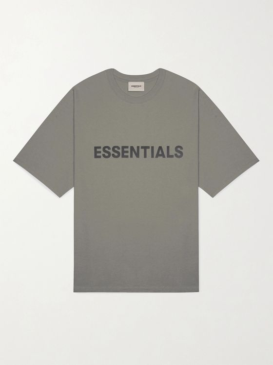 Fear of God Essentials Logo-Print Cotton-Jersey T-Shirt