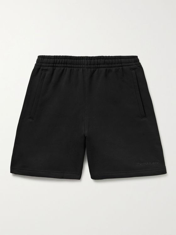 ADIDAS CONSORTIUM + Pharrell Williams Basics Wide-Leg Loopback Cotton-Jersey Shorts