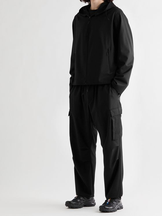 Y-3 Wool-Blend Drawstring Cargo Trousers