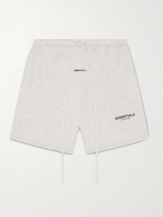 Fear of God Essentials Logo-Print Cotton-Blend Jersey Drawstring Shorts
