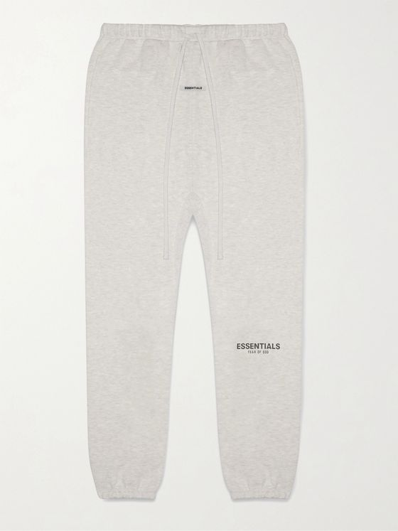 Fear of God Essentials Logo-Print Cotton-Blend Jersey Sweatpants