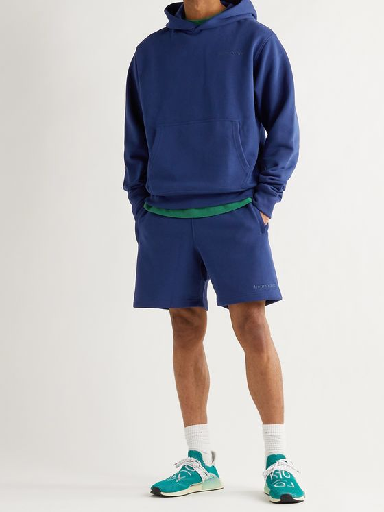 ADIDAS CONSORTIUM + Pharrell Williams Basics Loopback Cotton-Jersey Hoodie