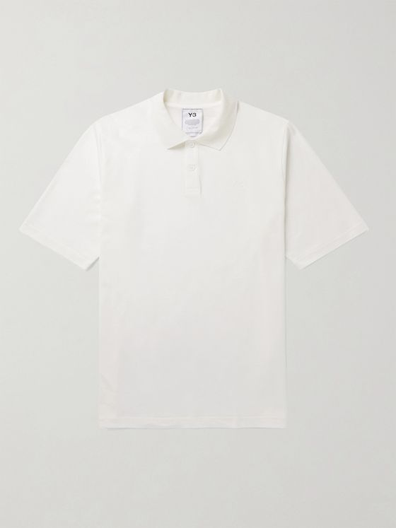 Y-3 Logo-Appliquéd Cotton-Piqué Polo Shirt