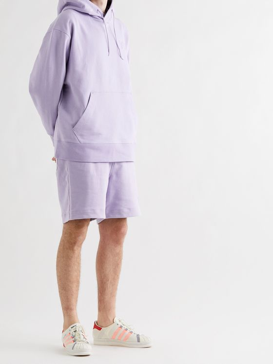 Y-3 Logo-Appliquéd Loopback Cotton-Jersey Drawstring Shorts