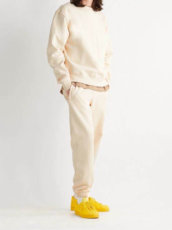 ADIDAS CONSORTIUM + Pharrell Williams Basics Tapered Loopback Cotton-Jersey Sweatpants