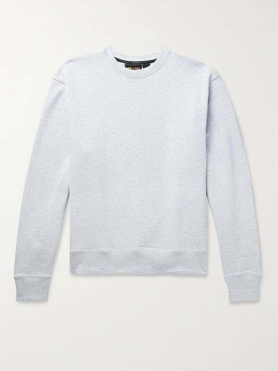 ADIDAS CONSORTIUM + Pharrell Williams Basics Loopback Cotton-Jersey Sweatshirt