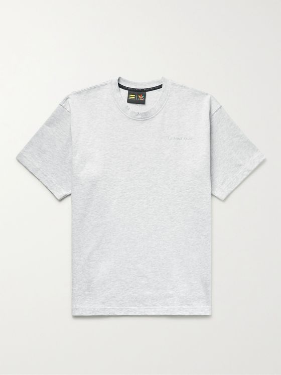 ADIDAS CONSORTIUM + Pharrell Williams Basics Embroidered Cotton-Jersey T-Shirt