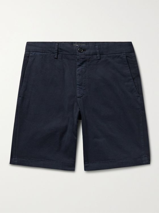 THEORY Zaine Stretch-Cotton Twill Chino Shorts
