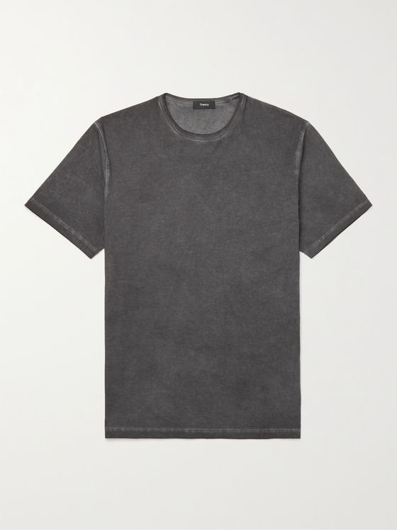 THEORY Garment-Dyed Cotton-Jersey T-Shirt