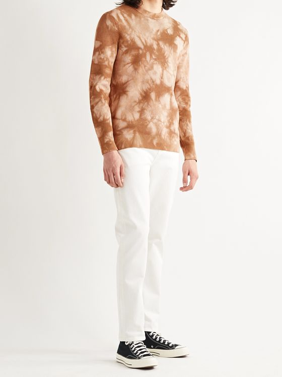 THEORY Masten Slim-Fit Tie-Dyed Cotton-Blend Sweater