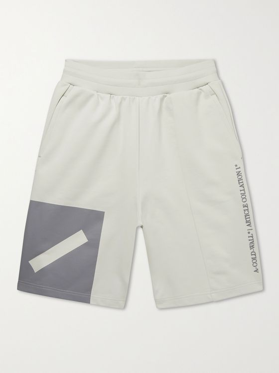 A-COLD-WALL* Hemisphere Printed Loopback Organic Cotton-Jersey Shorts