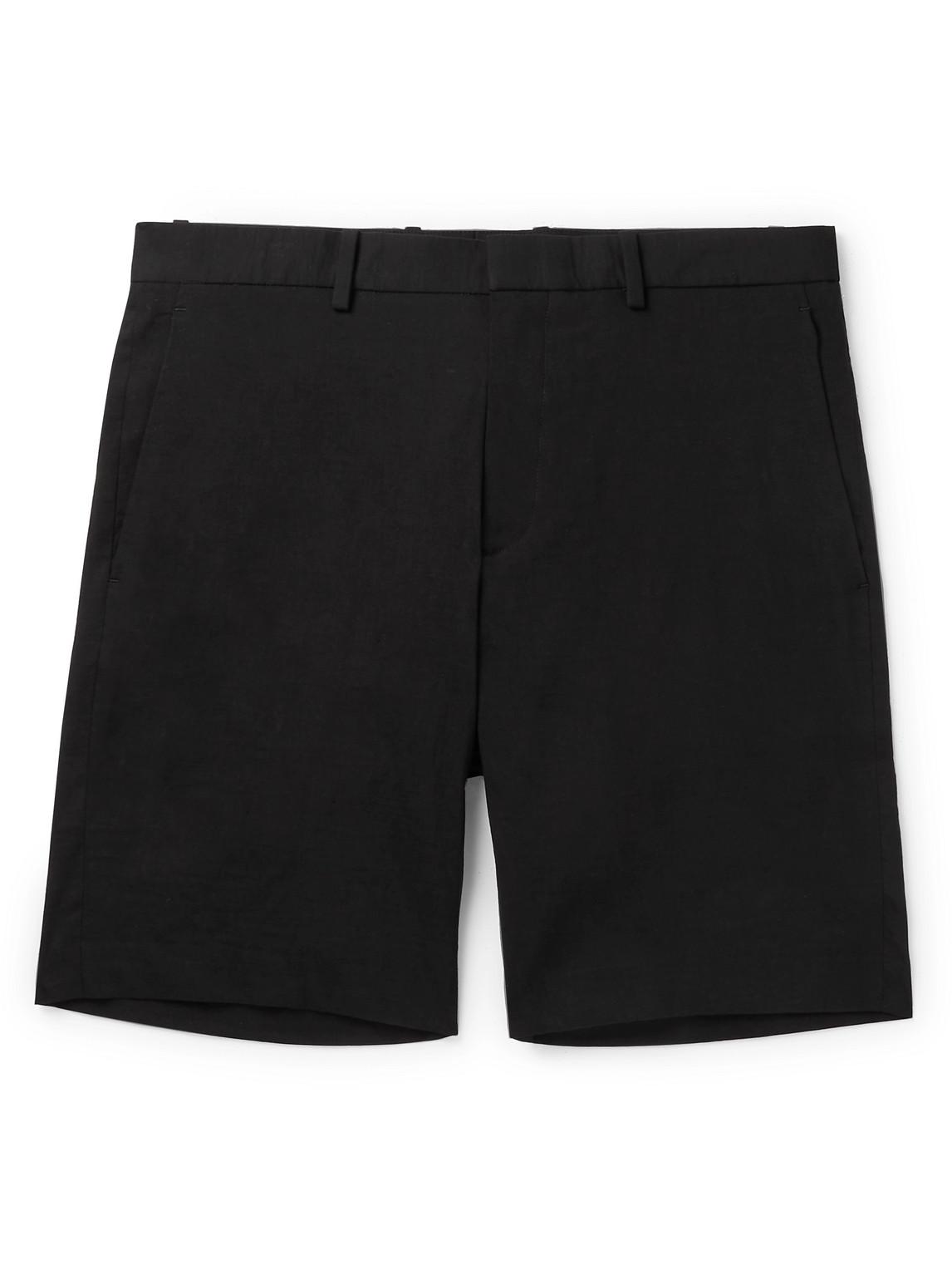 Theory - Curtis Slim-Fit Linen-Blend Shorts - Men - Black - Uk/Us 32