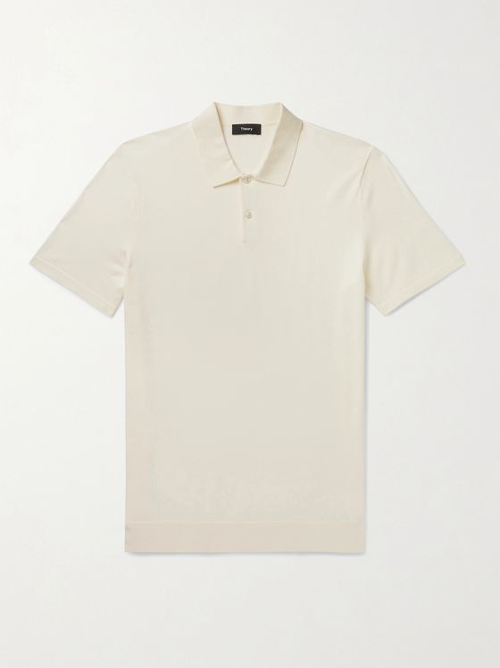 THEORY Knitted Polo Shirt