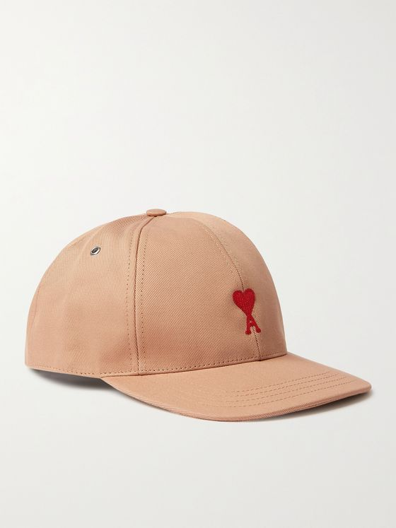 AMI PARIS Logo-Embroidered Cotton-Twill Baseball Cap