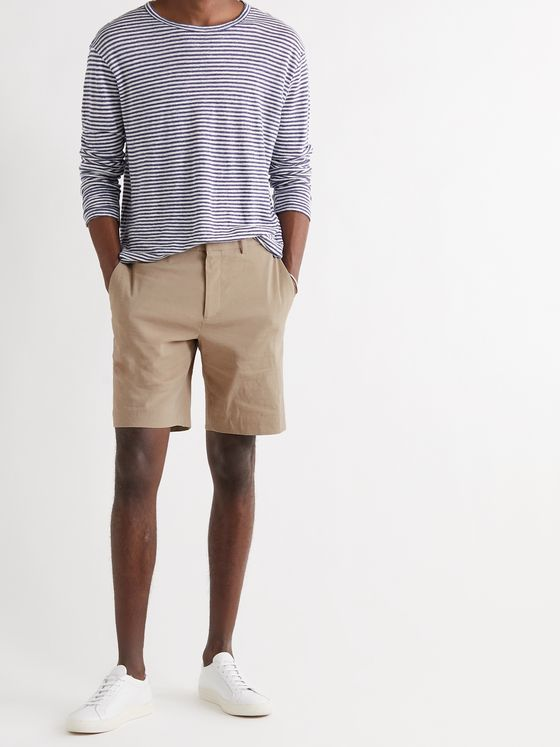 THEORY Curtis Slim-Fit Linen-Blend Shorts