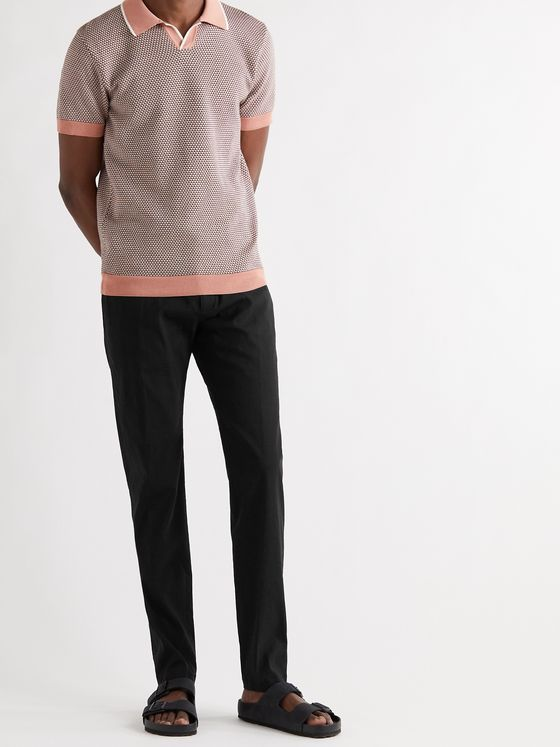 THEORY Zaine Slim-Fit Linen-Blend Trousers