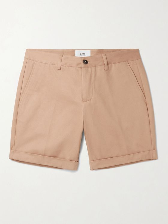 AMI PARIS Cotton-Gabardine Shorts