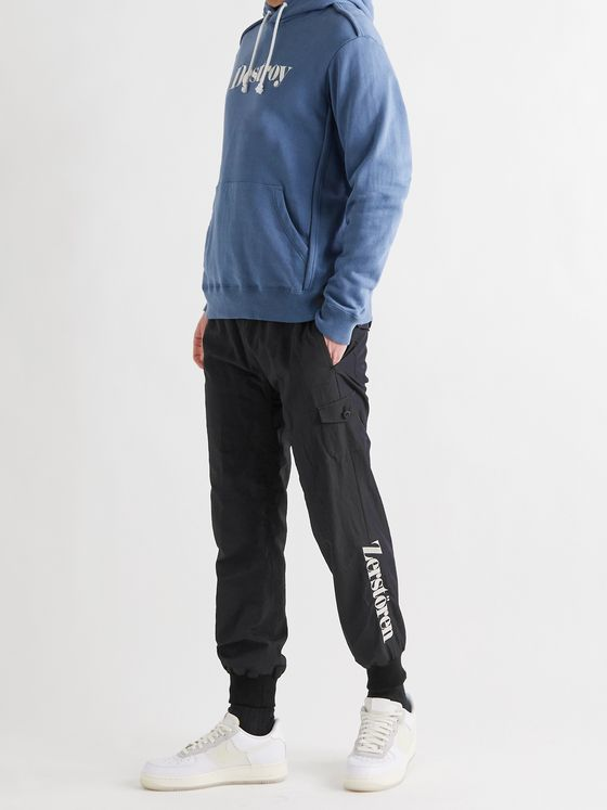 UNDERCOVER Slim-Fit Tapered Embroidered Shell Drawstring Trousers