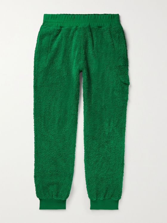 UNDERCOVER Tapered Cotton-Fleece Cargo Sweatpants