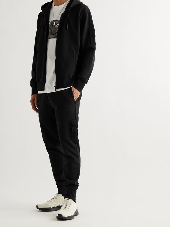 A-COLD-WALL* Tapered Logo-Embroidered Stretch-Cotton Jersey Cargo Sweatpants