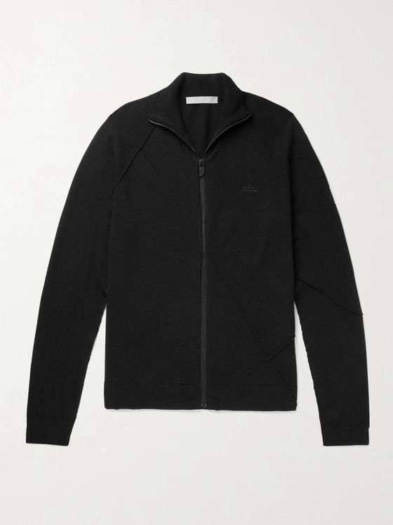 A-COLD-WALL* Logo-Embroidered Wool Zip-Up Cardigan