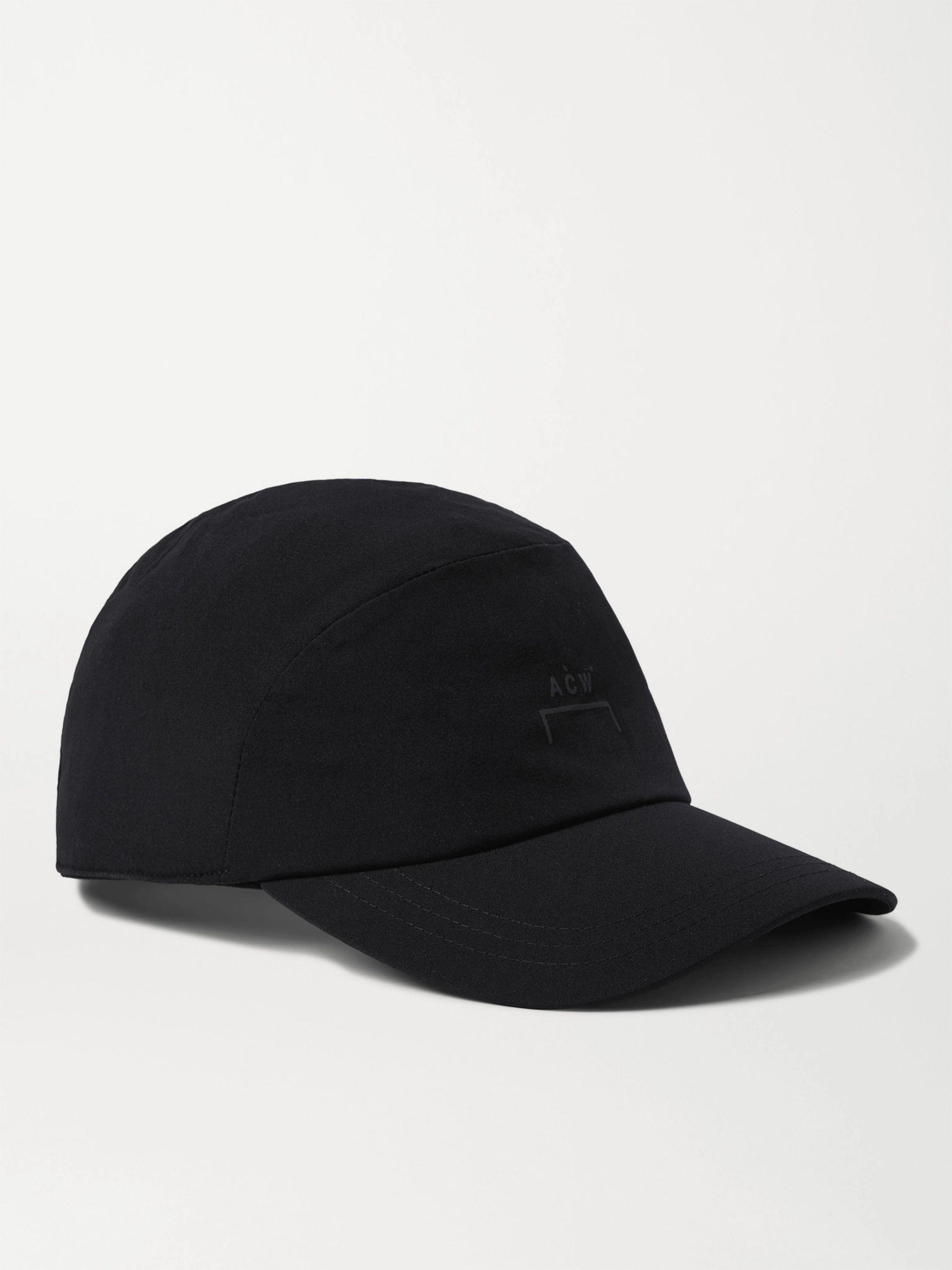 어 콜드 월 볼캡 모자 A-Cold-Wall Logo-Print Stretch-Nylon Baseball Cap,Black