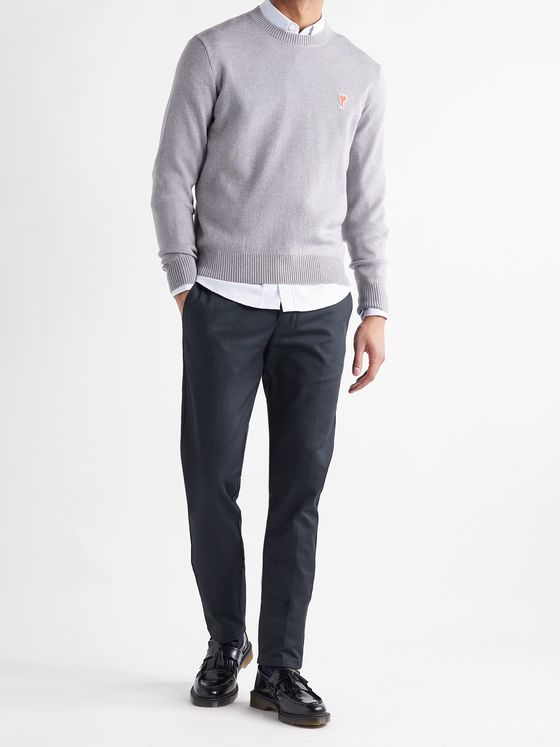 AMI PARIS Slim-Fit Cotton-Twill Chinos