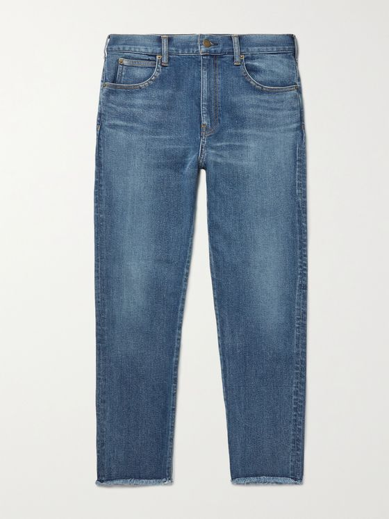 UNDERCOVER Slim-Fit Distressed Stretch-Denim Jeans