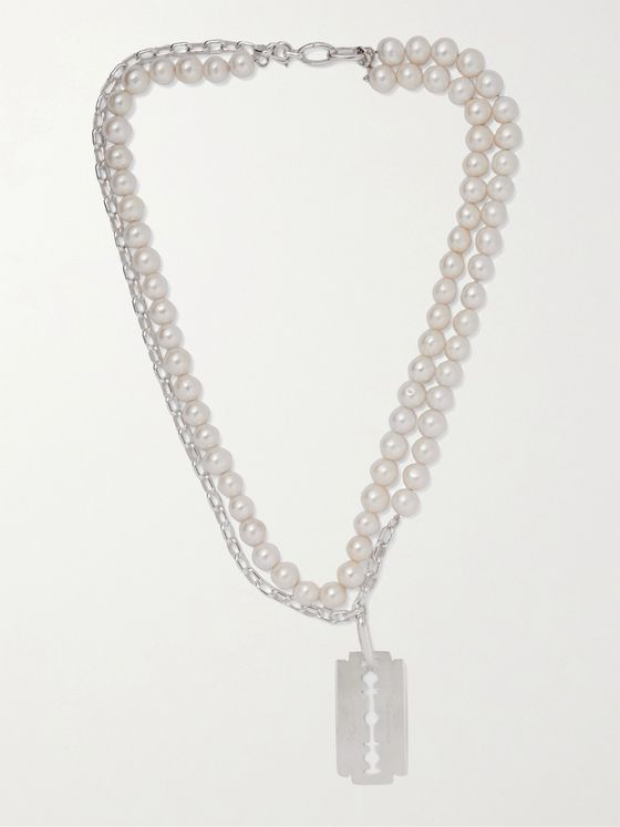 UNDERCOVER Sterling Silver Pearl Necklace
