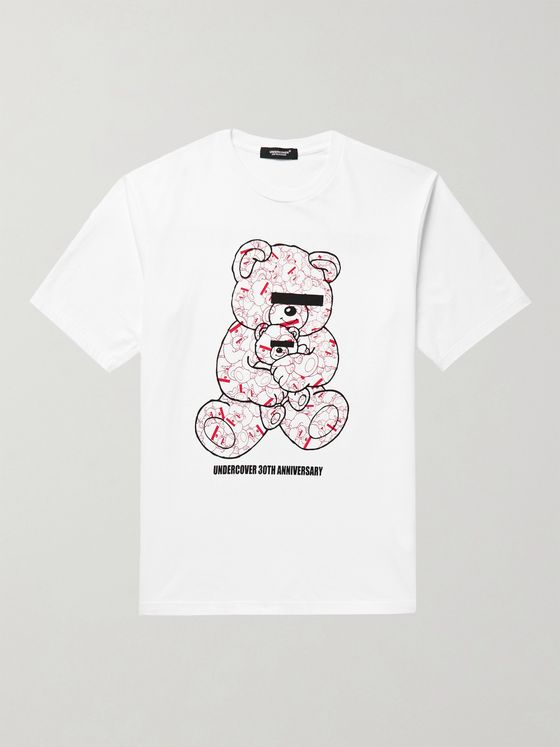 UNDERCOVER UBEAR Printed Cotton-Jersey T-Shirt