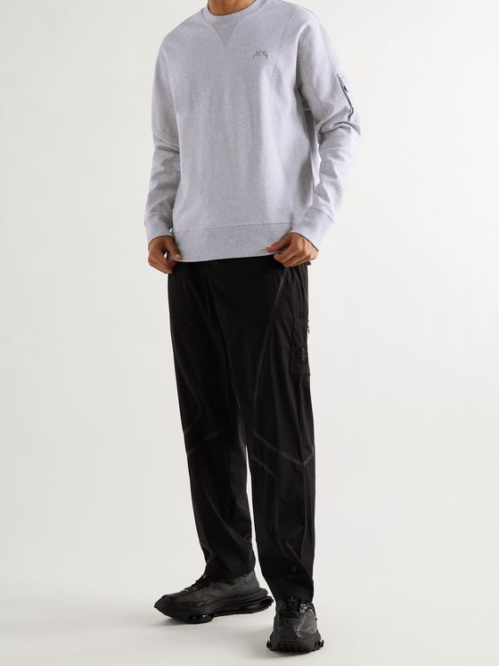 A-COLD-WALL* Logo-Embroidered Mélange Stretch-Cotton Jersey Sweatshirt