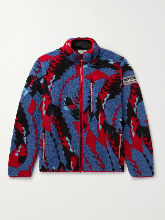 ARIES Piped Printed Fleece Jacket