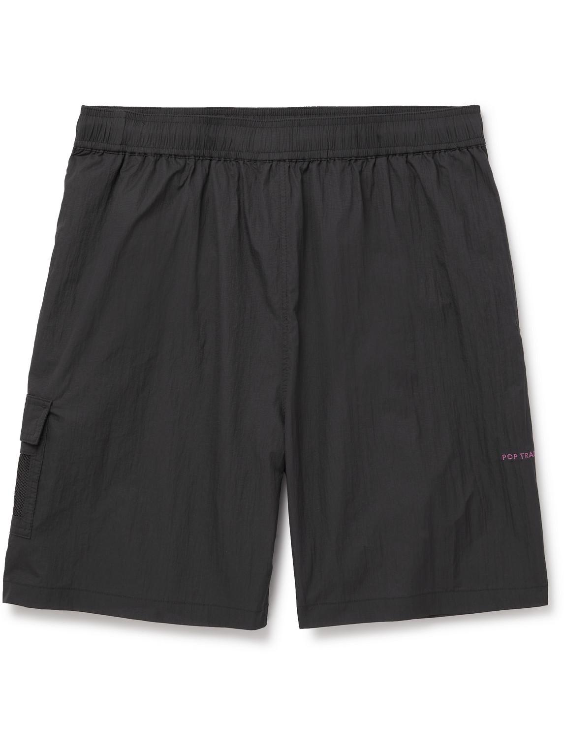 Pop Trading Company - Logo-Embroidered Shell Shorts - Men - Gray - M
