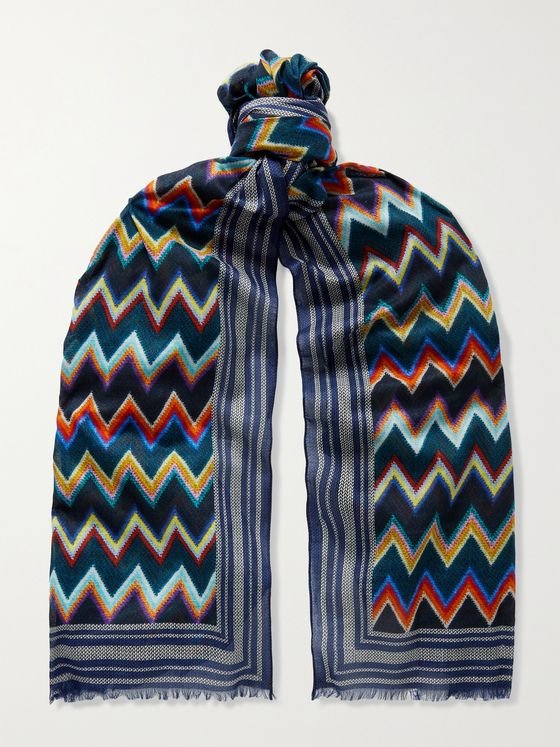 MISSONI Printed Cotton Scarf