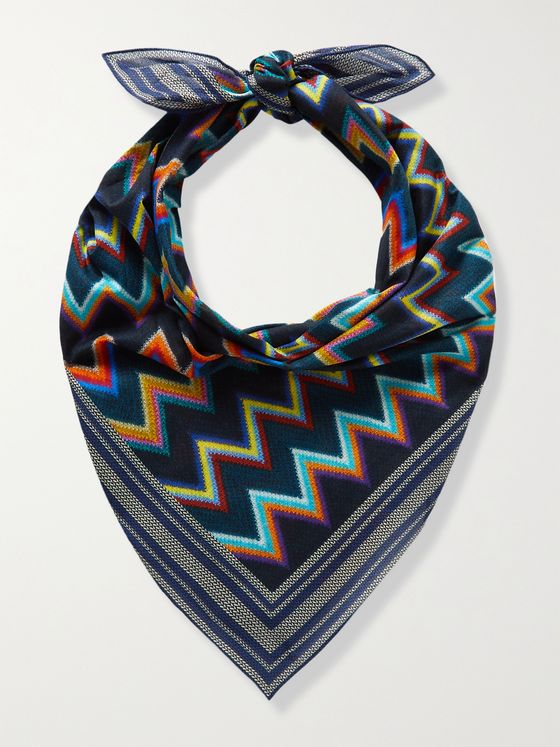 MISSONI Printed Cotton Handkerchief