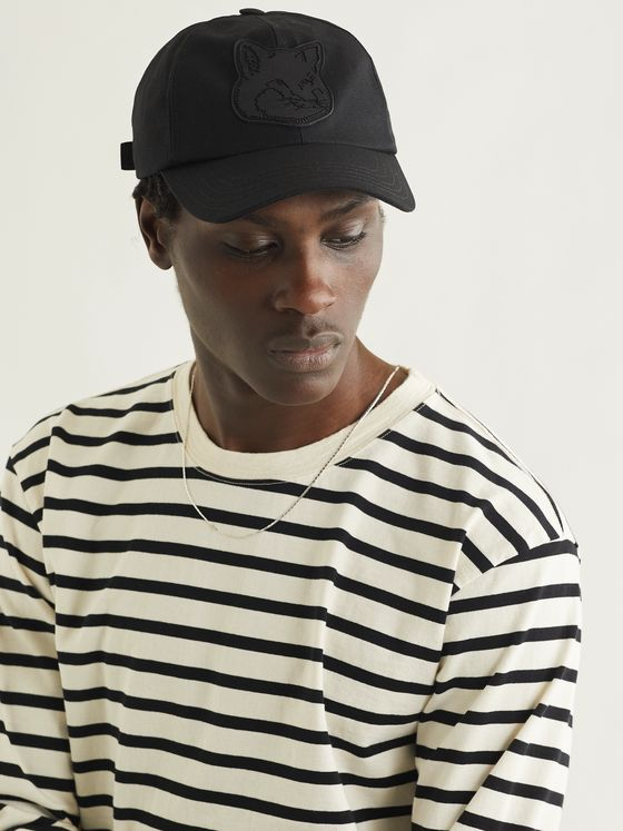 MAISON KITSUNÉ Logo-Appliquéd Cotton-Blend Twill Baseball Cap